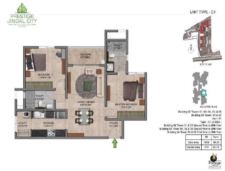 Prestige Jindal City Floor Plan